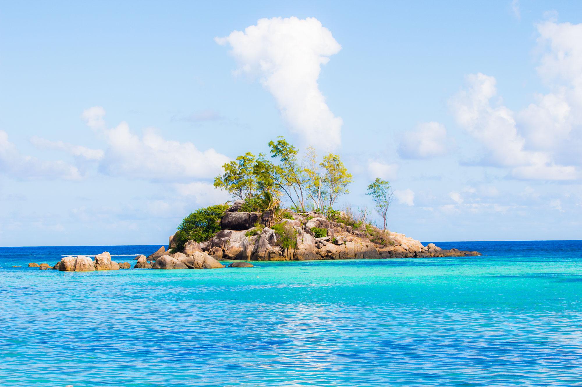Anse Royale Islet in Ocean Seychelles