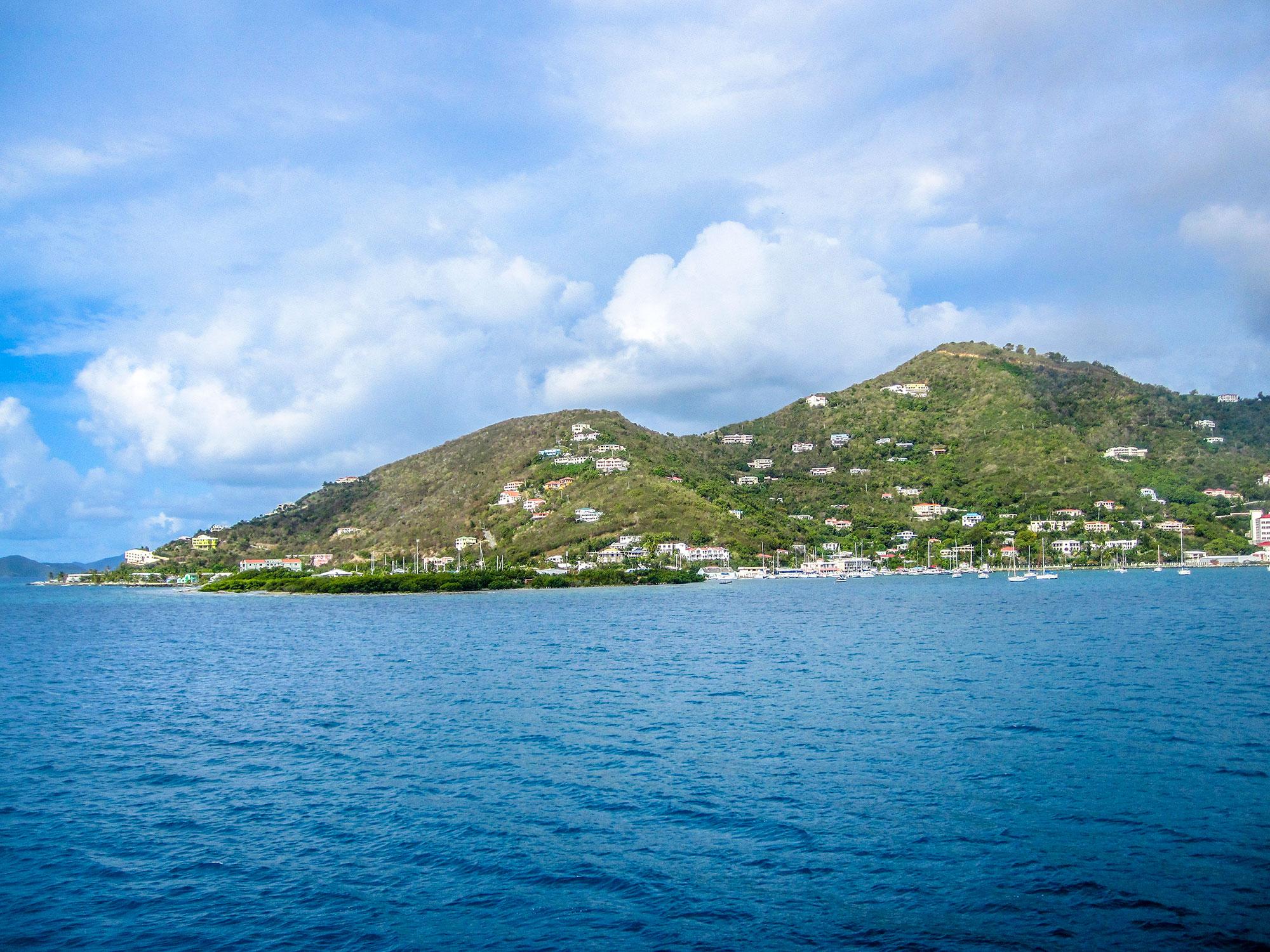 Mountains and coastline of Tortola, BVI