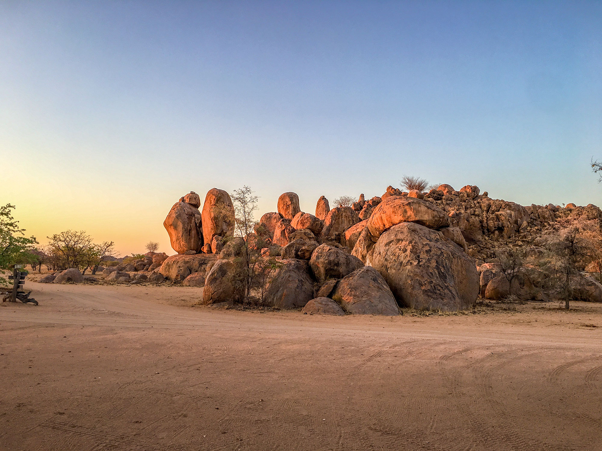 Damaraland rocks and desert in Namibia, Africa